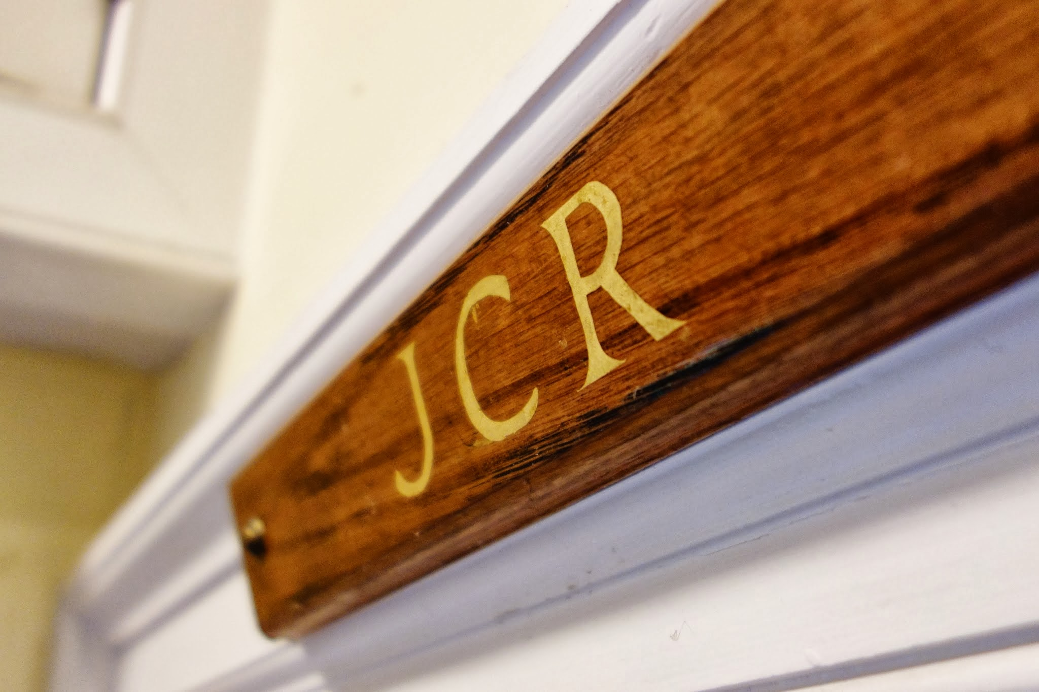 Entrance sign to the JCR